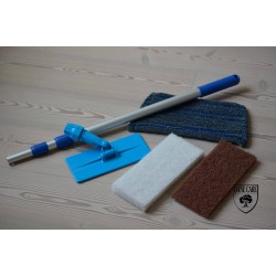 DC177 mopkit Doodlebug Oiling for manual application (doodlebug, handle, white pad, beige pad and scrub mop head) (DC)